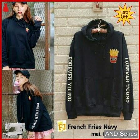 AND226 Sweater Wanita French Fries Biru Navy BMGShop