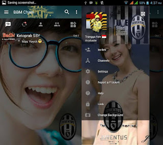 BBM Change Background with Juventus