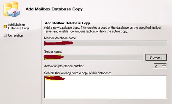 resume mailbox database copy