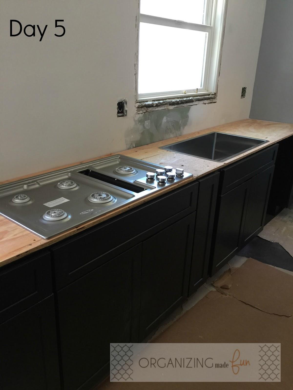 kitchen renovation almost done organizing made fun kitchen
