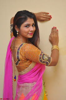 Lucky Sree in dasling Pink Saree and Orange Choli DSC 0381 1600x1063.JPG