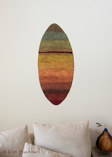 Sacred Landscape (felted wool wall hanging) :: by Kim Buchheit