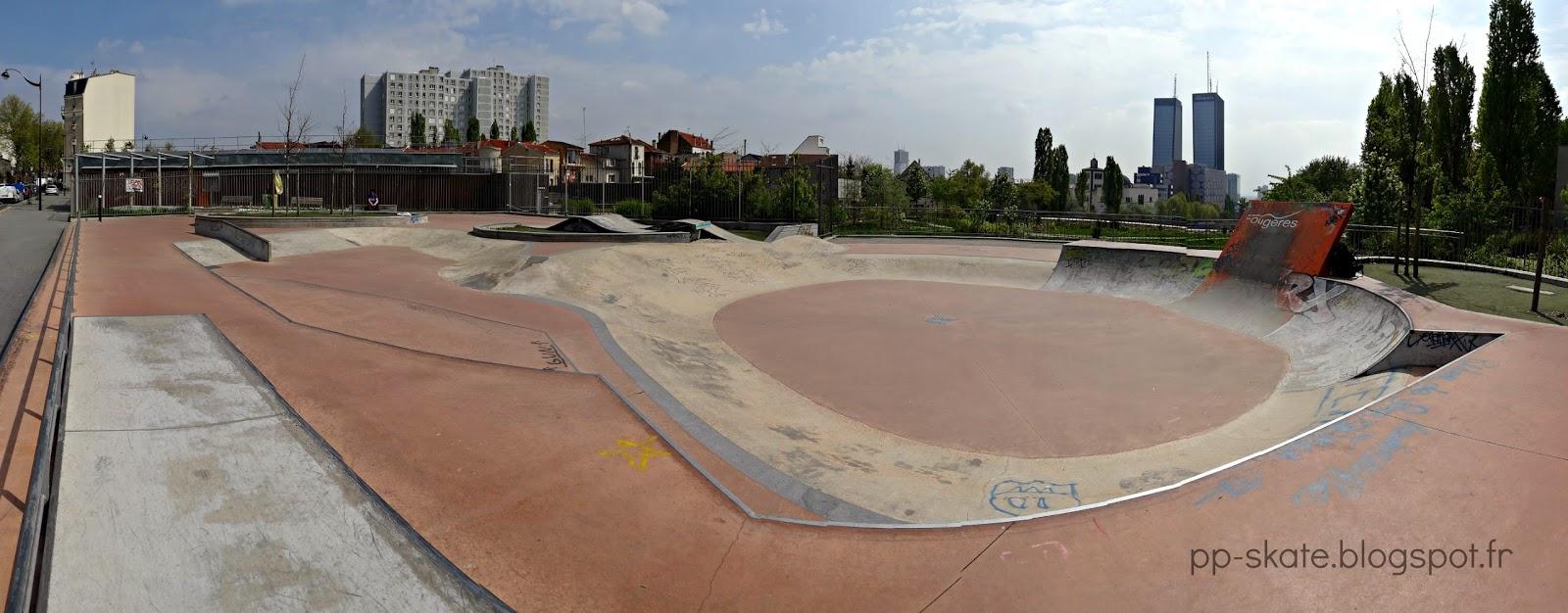 skatepark porte des lilas panoramique