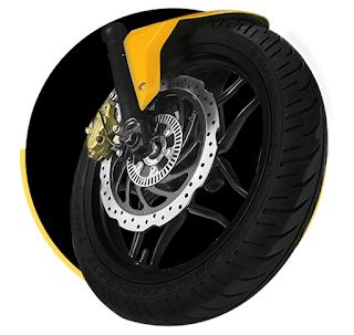 Bajaj RS 200 Pulser brakes