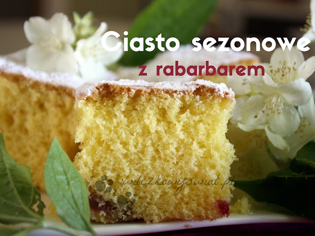 Ciasto sezonowe z rabarbarem