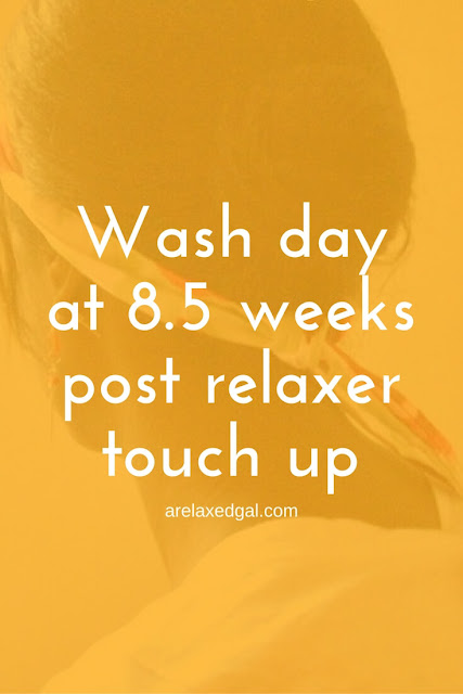Pre-pooing with coconut oil while 8.5 weeks post my last relaxer touch-up. | arelaxedgal.com