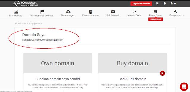 domain gratis webhost