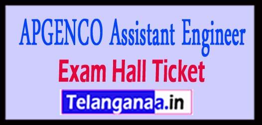 APGENCO Assistant Engineer Exam Hall Ticket 2018 Download