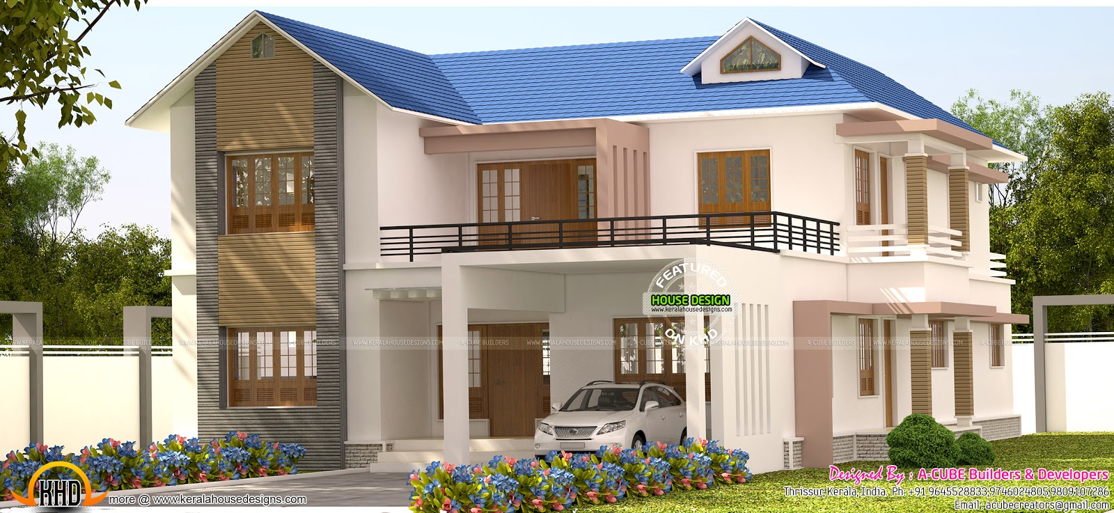 4 bhk kerala model house kerala home design and floor plans for 4 bhk house plans kerala