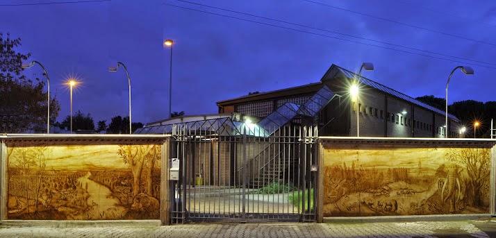 Museo di Casal de' Pazzi, esterno notte