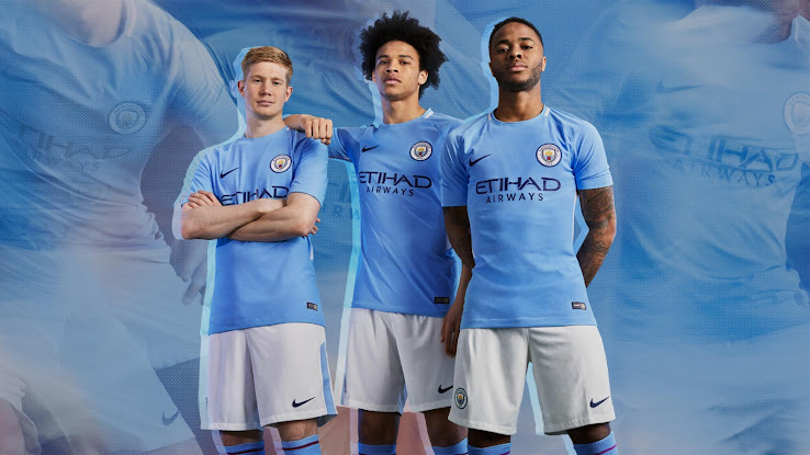 Manchester City 17-18 Home Kit Released - Footy Headlines