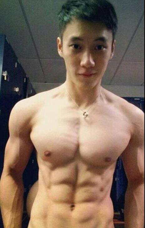 Hot shirtless asian boy