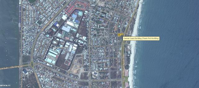 ị trí chính xác dự án Central Coast Đà Nẵng theo bản đỏ Bing