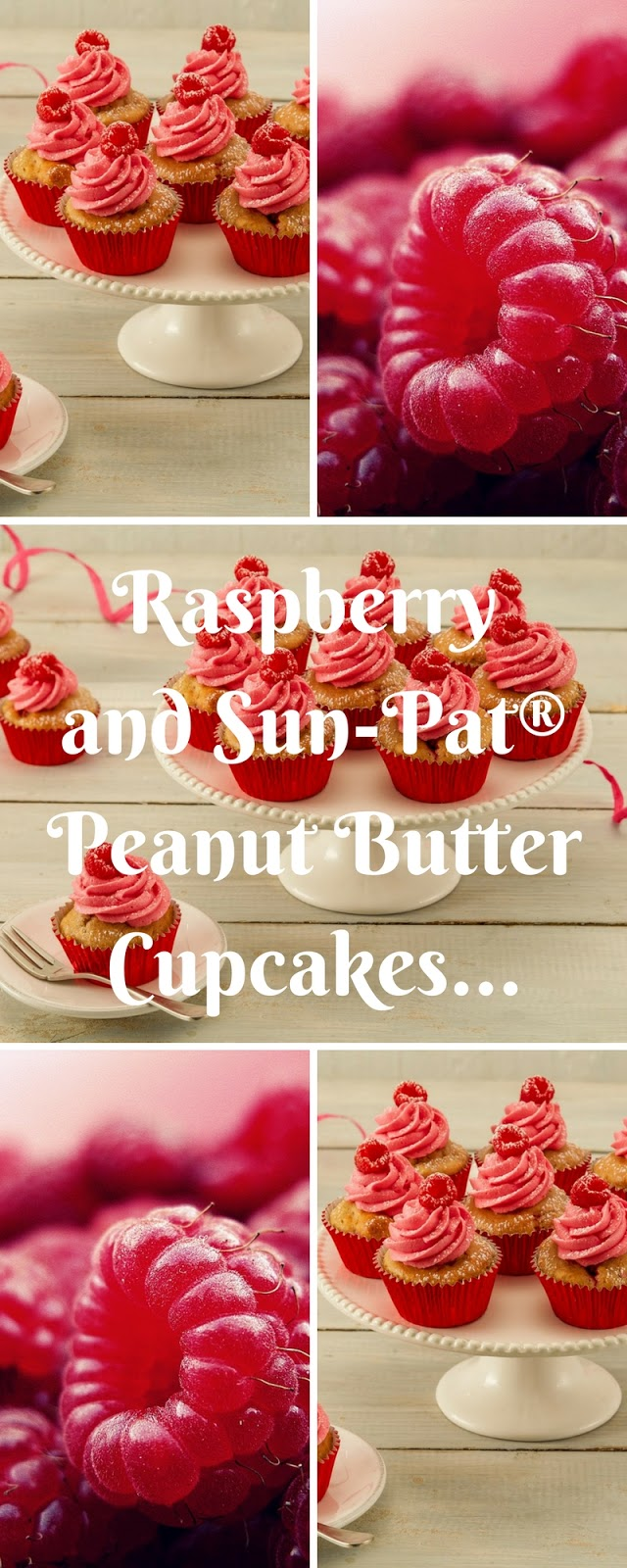 Raspberry And Sun-Pat® Peanut Butter Cupcakes