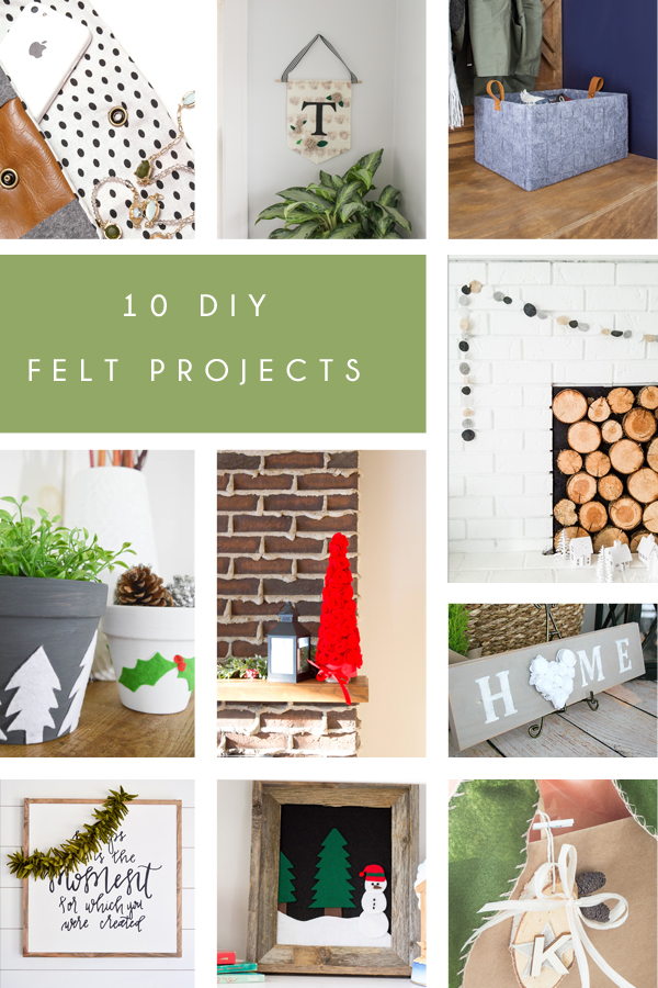 10 DIY felt project ideas and tutorials! So much inspiration!