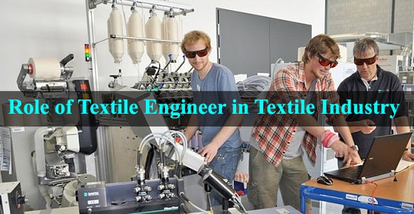 Textile engineer doing work in textile lab