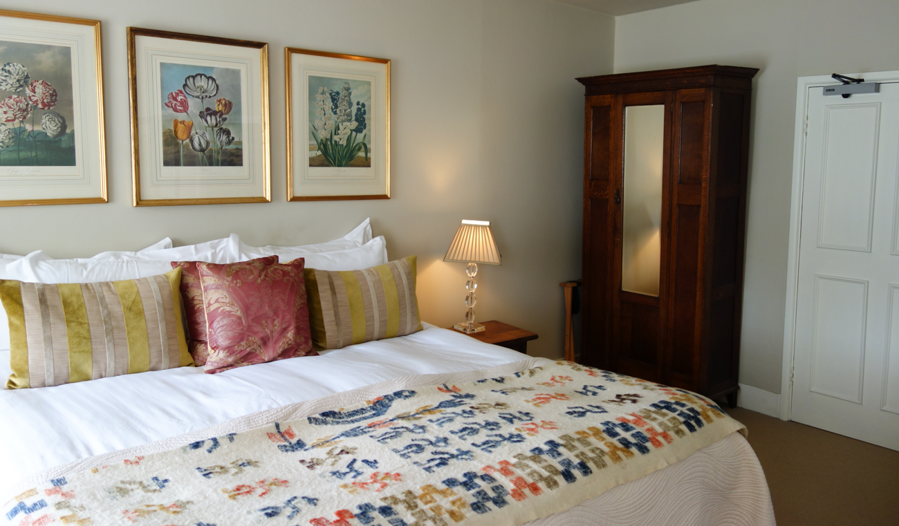 Bed in The Country Room at The Howard Arms
