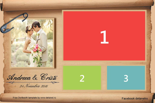 Free wedding photobooth template papirus