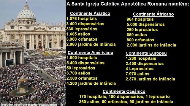 Resultado de imagem para catolica a maior instituição caritativa do mundo