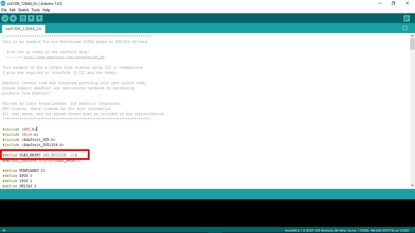 Arduino-er: NodeMCU (ESP8266) to display on 128x64 I2C OLED