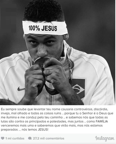 Jogador Neymar diz que sua fé em Jesus causa mau-olhado e inveja