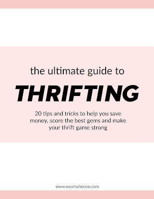 the front page of the ultimate guide to thrifting