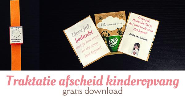 traktatie afscheid kinderopvang gratis download