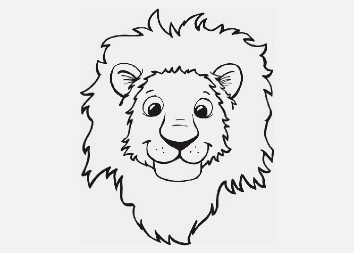 How to draw cute baby lion