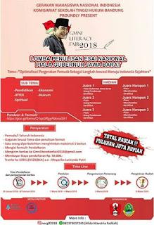 Lomba Penulisan Esai Nasional Piala Gubernur Jawa Barat 2018