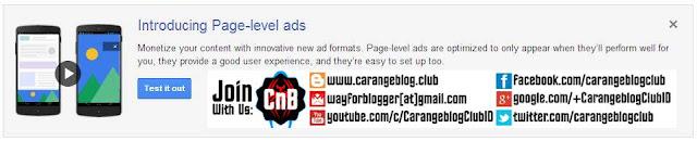 Generasi Baru Iklan Adsense Iklan Tingkat Laman