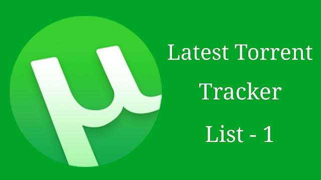 Latest Torrent Tracker List Update - Part 1