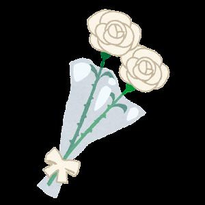 バラの花束のイラスト(父の日・黄色)
