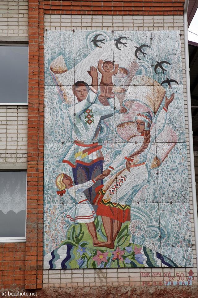 советская мозаика зданиях