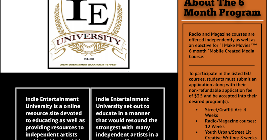 Indie Entertainment University Course Listing ~ Carlena Gourdine's Learning Institute 4 the Urban Arts™