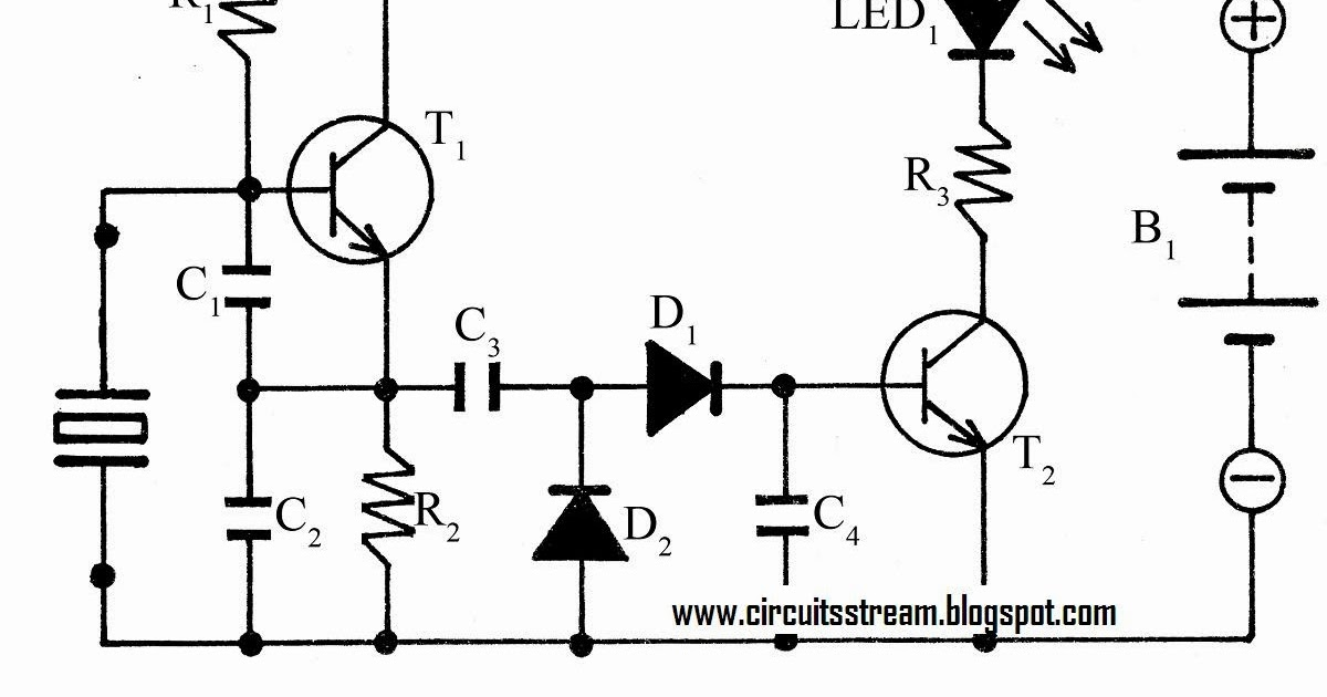 two transistor crystal tester circuit