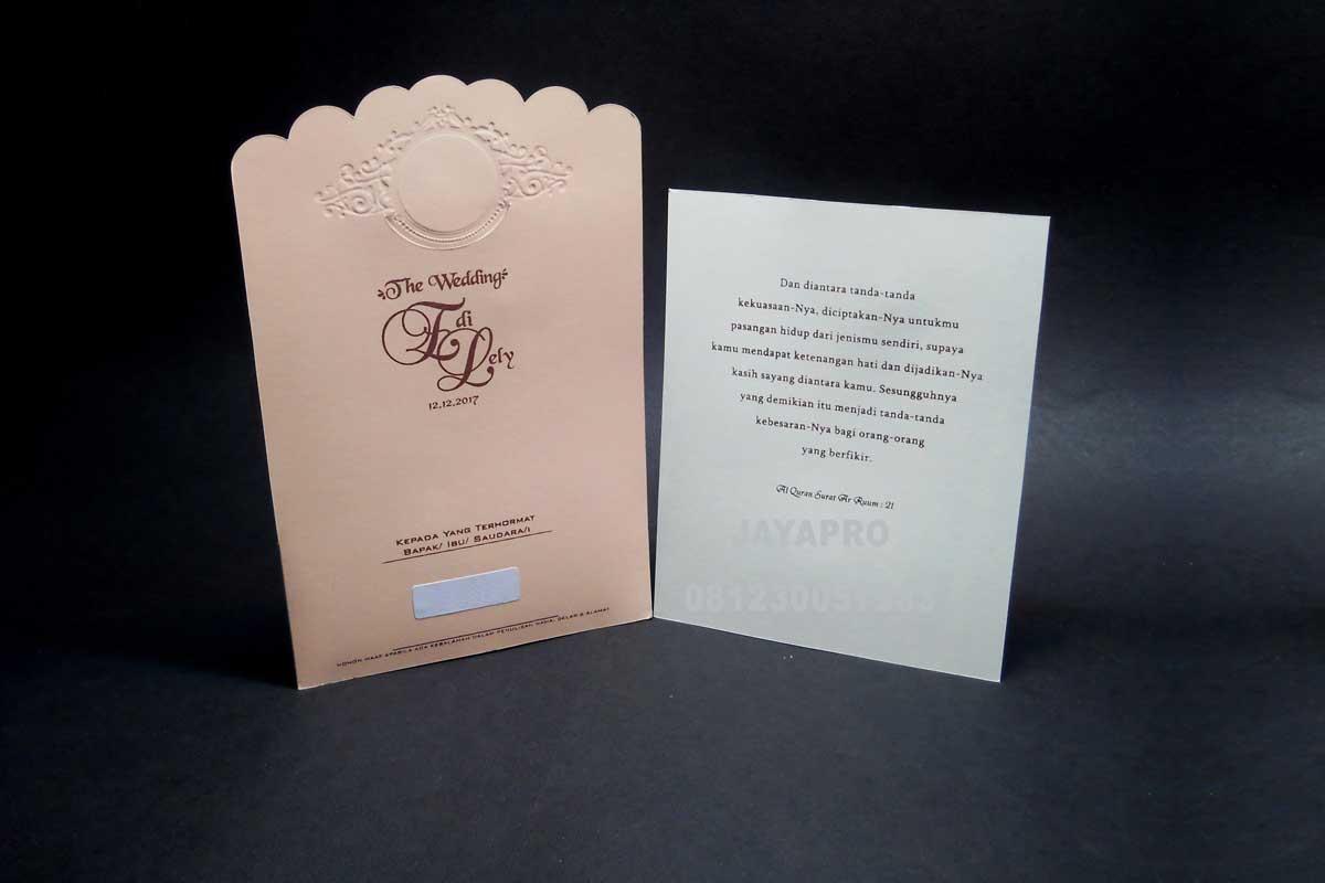 contoh undangan elegan simple ev07 | undangan pernikahan ...