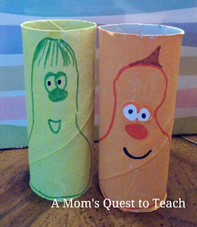 Jimmy and Jerry Gourd Veggie Tales Craft