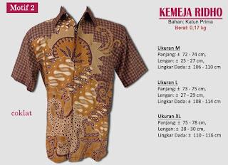 Grosir kemeja batik pria murah dan berkualitas (batik pekalongan) - ridho motif 2