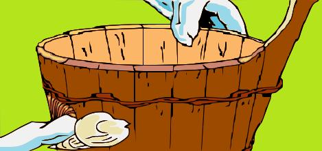 decorare-cesto-con-conchiglie