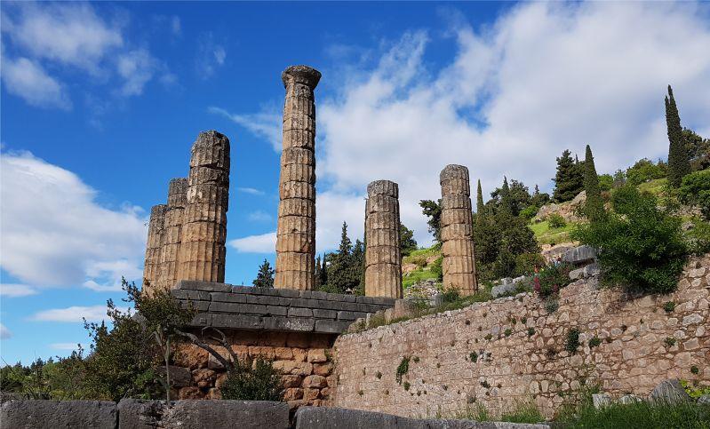 Apollon Tempel in Delphi Griechenland
