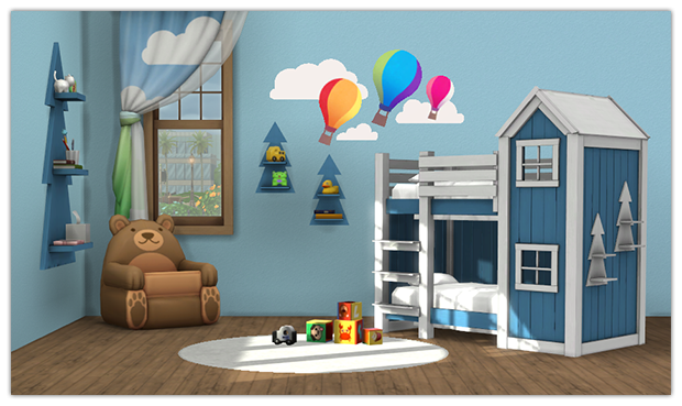 My Sims 4 Blog Clubhouse Bunk Bed And Shelf For Toddlers