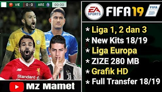 FTS Mod FIFA 19 by Mz Mamet Full Transfers New Kits