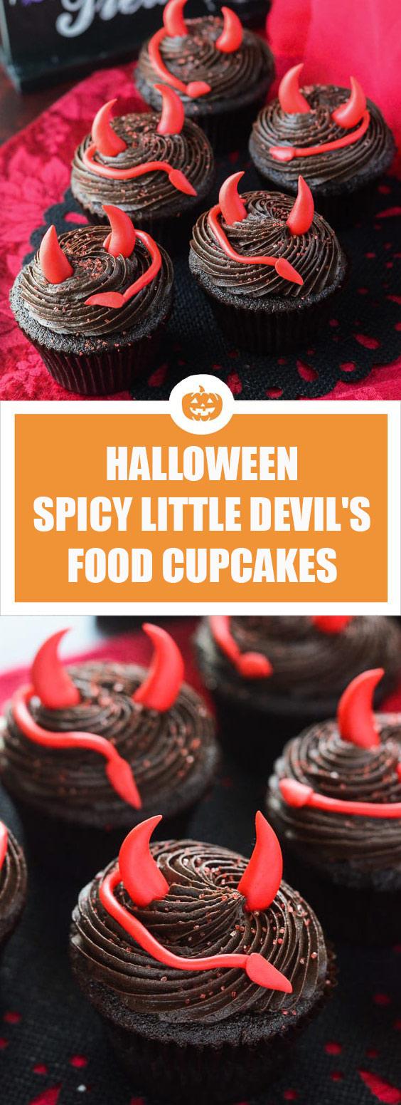 Halloween Spicy Little Devil's Food Cupcakes
