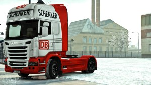 DB Schenker paint job for Scania R