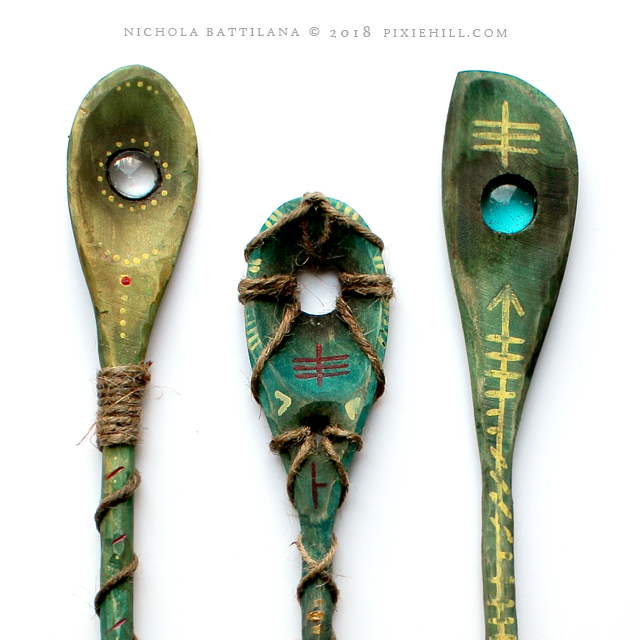 Spoon Wands for Fairy Spying - Nichola Battilana pixiehill.com