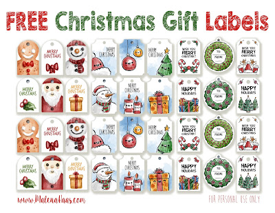 FREE Christmas Gift Labels