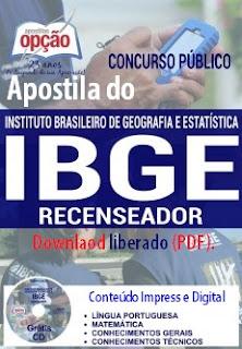 Apostila preparatória para o processo seletivo do IBGE para o cargo de Recenseador.