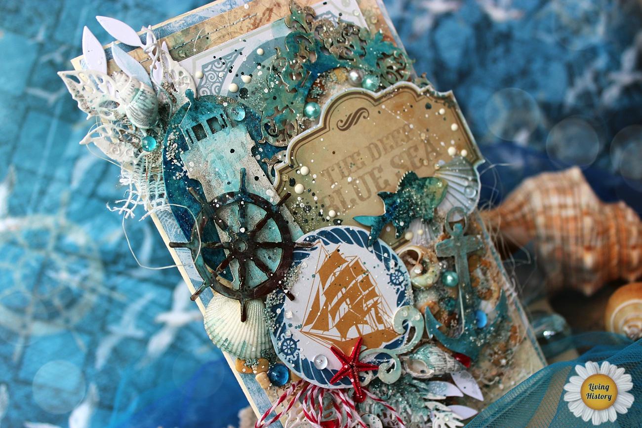 Открытка морскую тему, днем рождения