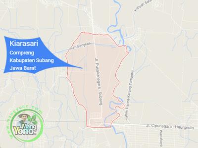 PETA : Desa Kiarasari, Kecamatan Compreng