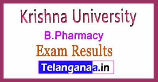 Krishna University KRU B.Pharmacy  Exam Results